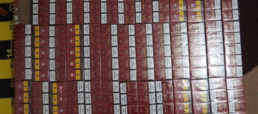 Peste 8.000 de țigarete de contrabandă descoperite în locuința unui bărbat din Răucești