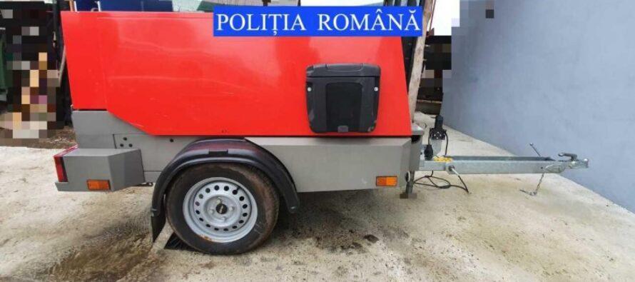 Motocompresor furat din Germania, descoperit în România