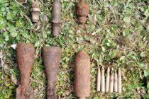 Mai multe elemente de muniție neexplodate descoperite în comuna Ion Creangă
