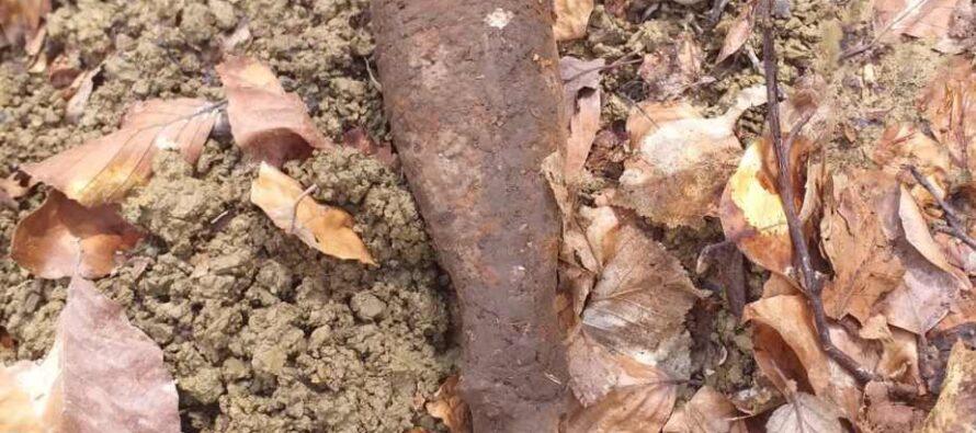 Proiectil neexplodat descoperit în pădurea Arinosu din comuna Ion Creangă