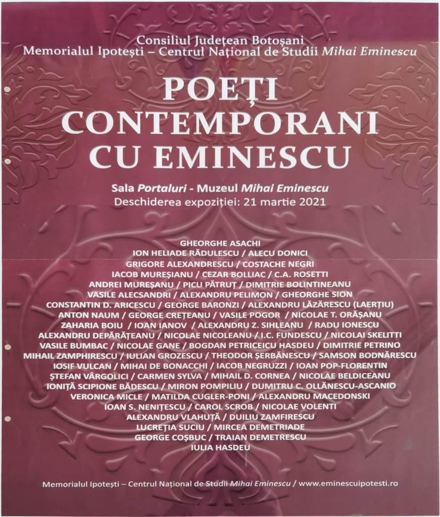 Poeti contemporani cu Eminescu afis