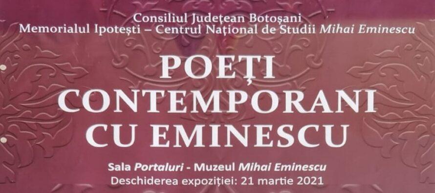 """Expoziția """"Poeți contemporani cu Eminescu"""" organizată la Biblioteca Județeană"""