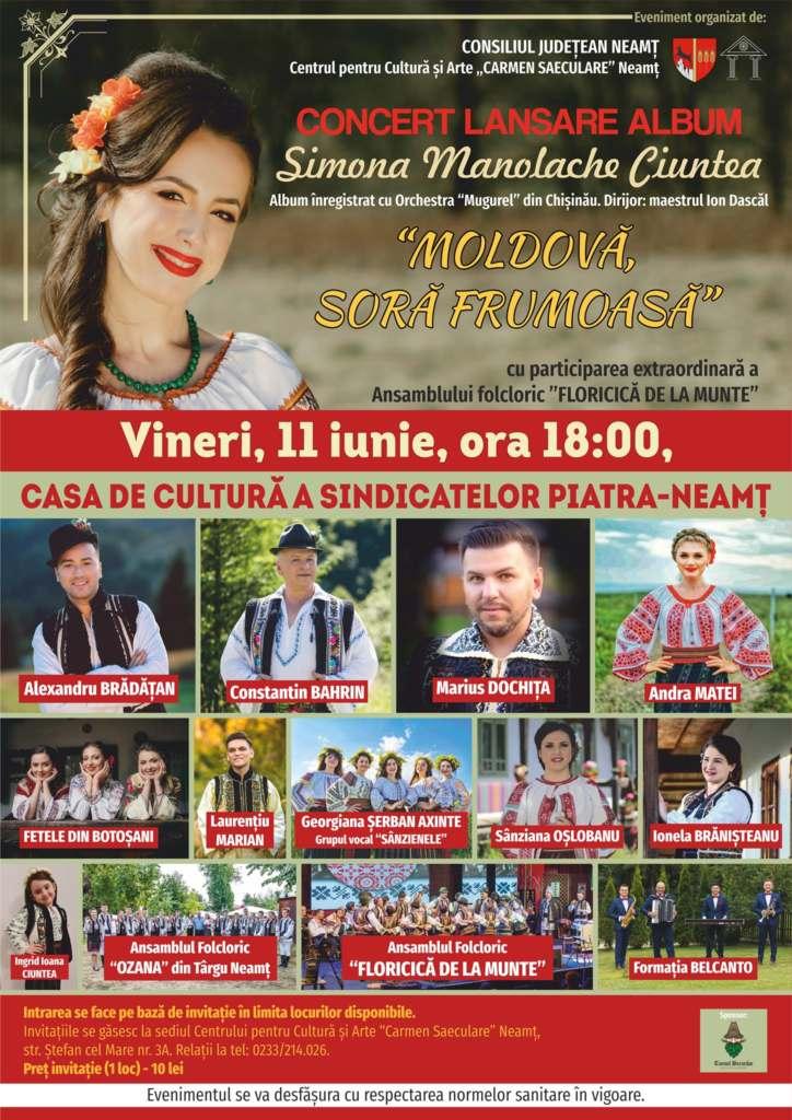 Afis Concert Simona MAnolache Ciuntea