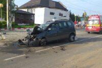 Accident rutier între un camion și un autoturism la Gâdinți