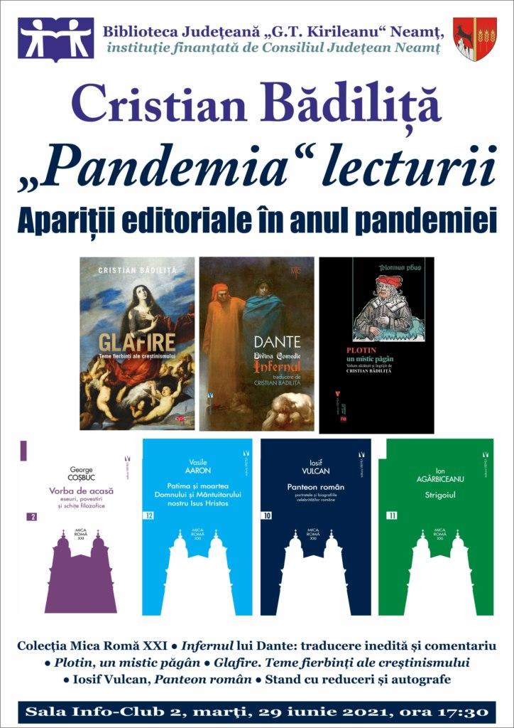 conferinta pandemia lecturii cristian badilita