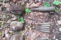 Mai multe elemente de muniție neexplodată descoperite în comuna Brusturi