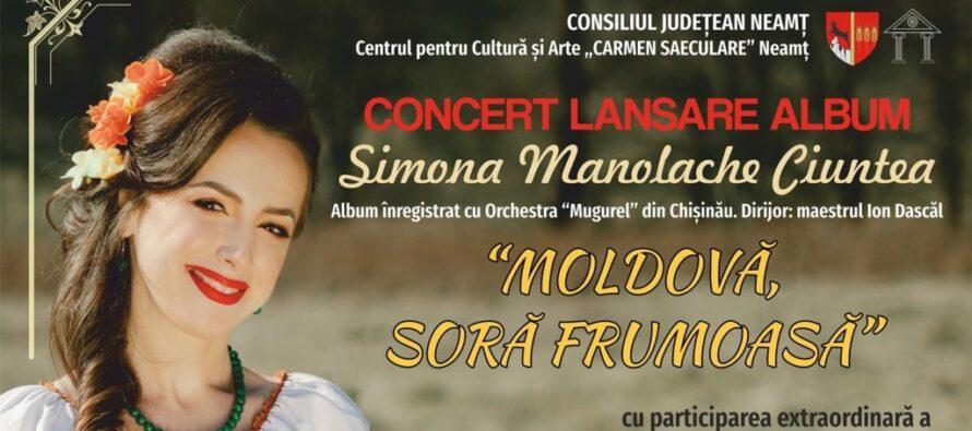 Simona Manolache Ciuntea lansează primul album de muzică populară