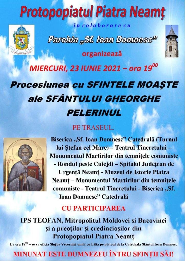 procesiune Sf. Gheorghe Pelerinul
