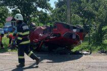 Accident rutier la Agapia, 2 persoane au fost rănite