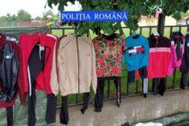 Articole de îmbrăcăminte și încălțăminte contrafăcute confiscate de polițiști