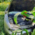 autoturism rasturnat in lan de porumb