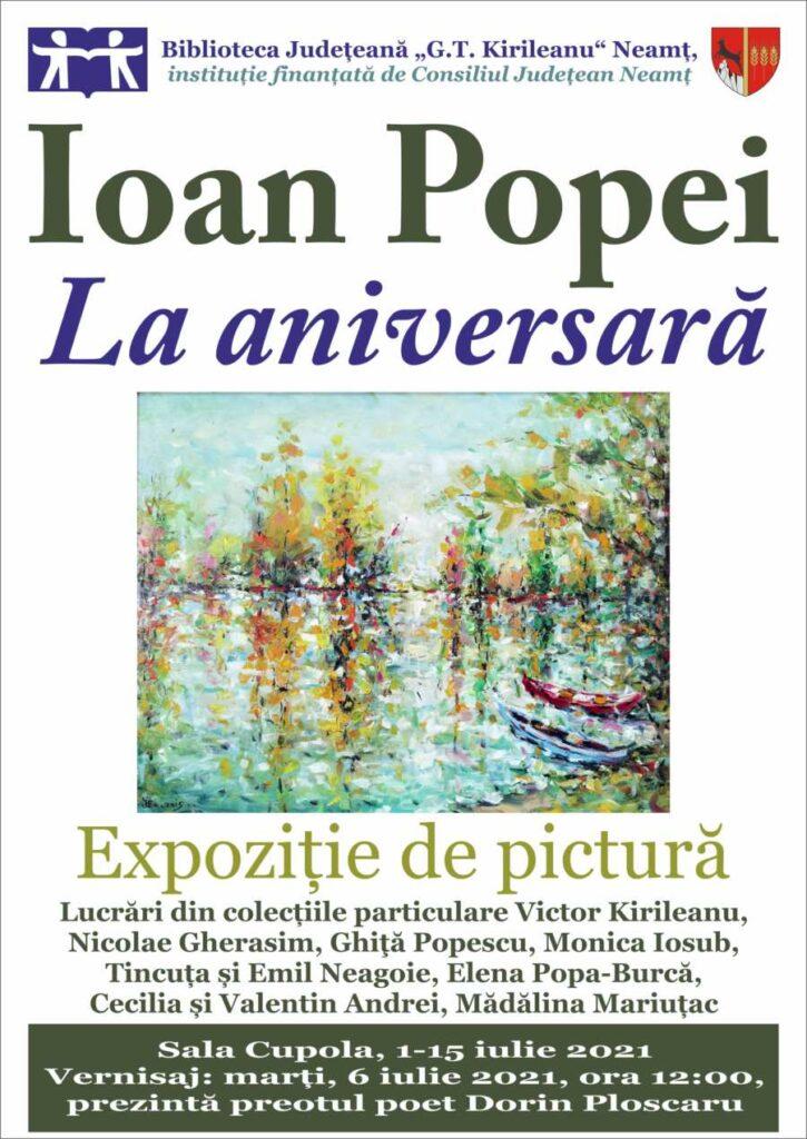 expozitie de pictura Ioan Popei 2021
