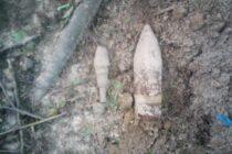 Un proiectil neexplodat descoperit în comuna Ștefan cel Mare