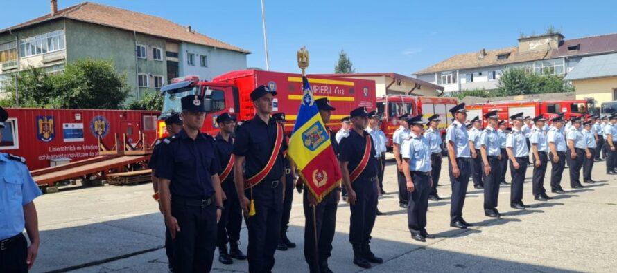 Pompieri avansați în grad la ISU Neamț