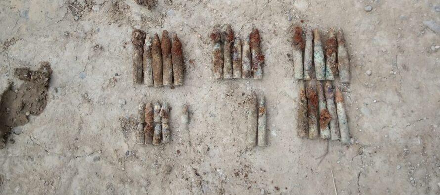 Muniție din Primul Război Mondial descoperită în comuna Tazlău