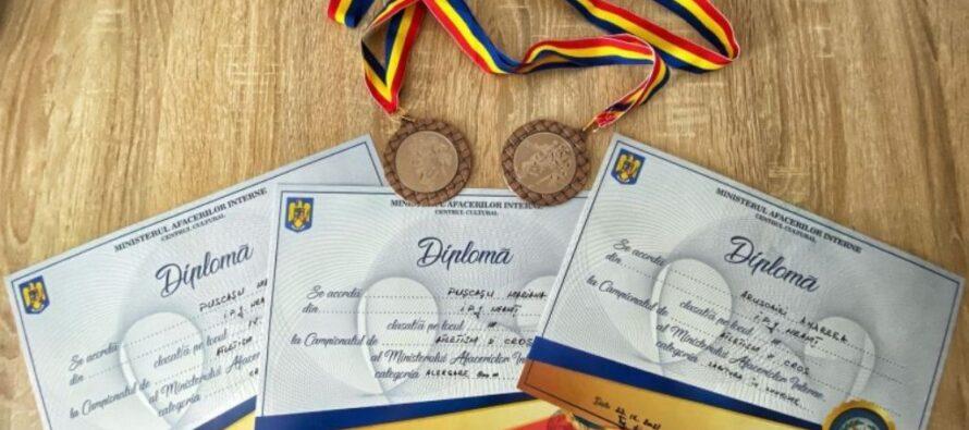 Doi polițiști nemțeni au fost premiați la Campionatul de Atletism și Cros al M.A.I.