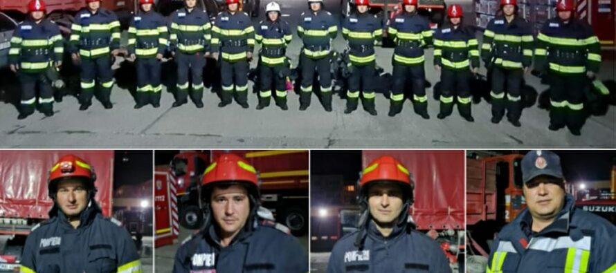 Pompierii nemțeni care participat la stingerea incendiilor din Grecia
